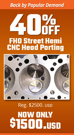 Street HEMI CNC Head Porting Monthly Special
